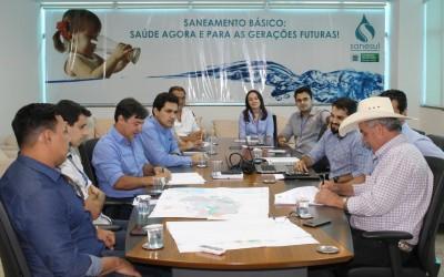 Prefeito de Três Lagoas participa de reunião na sede da Sanesul sobre revisão do Contrato de Programas