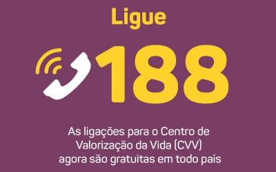 Telefone 188 do CVV de prevenção ao suicídio já funciona em todo o Brasil