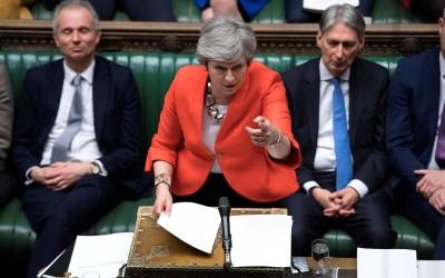 Parlamento britânico rejeita novamente acordo de Theresa May sobre o Brexit