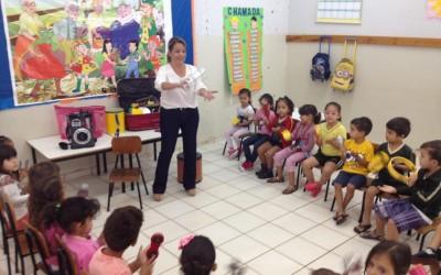 Projeto Bandinha Rítmica é iniciado nos Centros de Educação Infantil de Três Lagoas