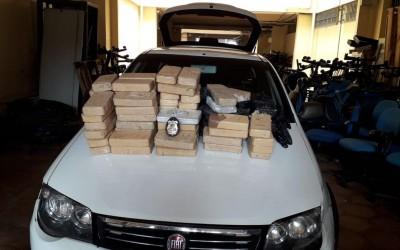 Quatro são presos com 84 quilos de cocaína em rodovia de Mato Grosso do Sul