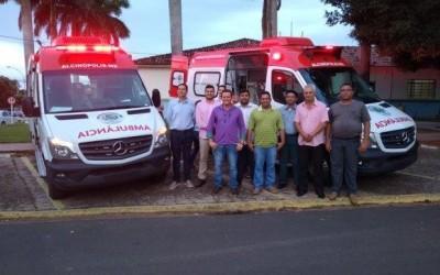 Com emenda de Eduardo Rocha, município de Alcinópolis recebe duas ambulâncias