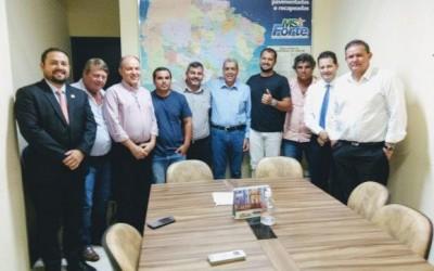 Eduardo Rocha e demais lideranças do MDB recebem vereadores de Nioaque e falam sobre eleições 2020