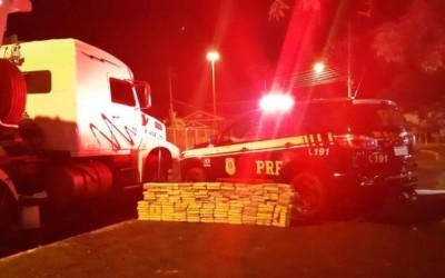 Motorista demonstra nervosismo e PRF encontra 160 kg de cocaína