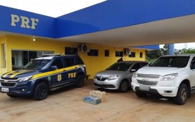 PRF prende traficante e batedor que levavam cocaína pela BR-262