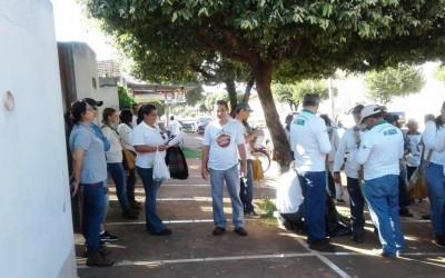 Saúde de Três Lagoas promove mutirão contra focos do Aedes no São Carlos