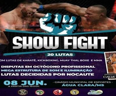 Água Clara receberá o Show Fight em junho e evento promete agitar a cidade