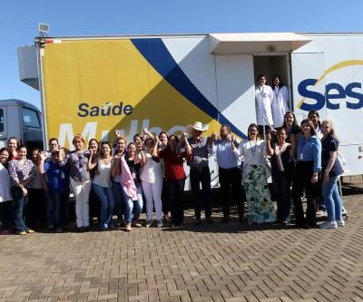 Unidade móvel de saúde do SESC inicia atendimentos na UBS Nova Três Lagoas