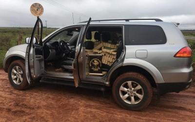 Veículo furtado foi apreendido pelo DOF com mais de 1 tonelada de droga
