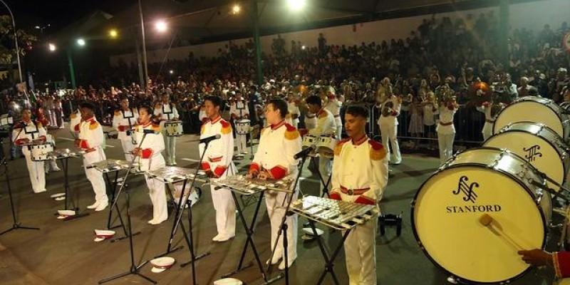 Autoridades e público de Três Lagoas prestigiam e aplaudem Festival de Bandas e Fanfarras