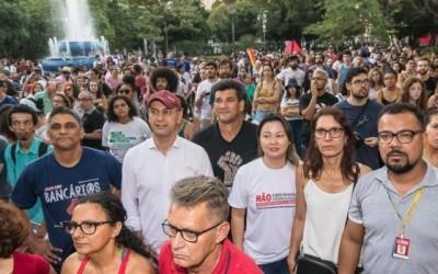 Bancários cruzam os braços em apoio à greve geral na sexta-feira