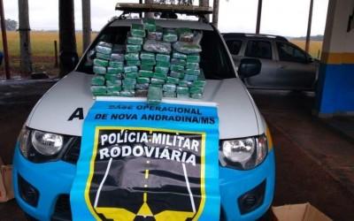 Casal é preso pela Polícia Militar Rodoviária transportando 41 kg de maconha