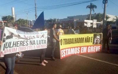 Centrais sindicais de Três Lagoas realizam ato contra reformas na BR-262