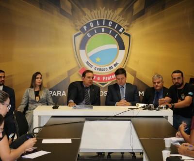 Delegados falam sobre prisão de envolvidos no furto de entorpecente de Delegacia em Aquidauana