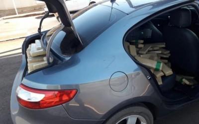 Motorista abandona carro com 550 quilos de maconha, mas batedor é preso