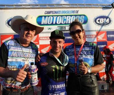 Português Paulo Alberto é campeão da categoria Elite do Motocross em Três Lagoas