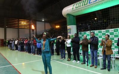 Cerimônia de abertura dá início à fase classificatória dos Jogos Escolares da Juventude 12 a 14 anos em Três Lagoas