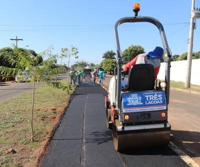 Infraestrutura finaliza Ciclovia da Avenida Baldomero Leituga e já iniciou a da Antônio Trajano