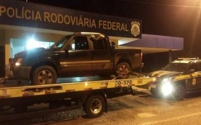 Motorista foge em alta velocidade e abandona S10 em Água Clara com mais de 470 kg de maconha