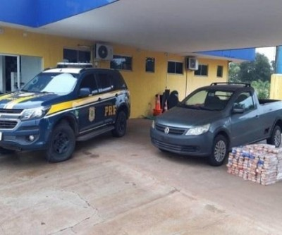 Droga que saiu de Três Lagoas é apreendida na região de Água Clara