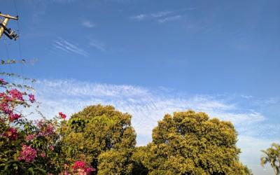 O tempo segue estável e a temperatura máxima anotará 26ºC nesta quinta-feira (18)