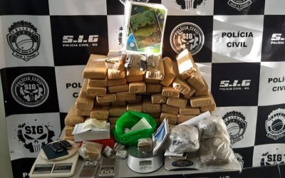SIG apreende 50 kg de maconha e R$ 9 mil em dinheiro em residência no Jd. Ipanema