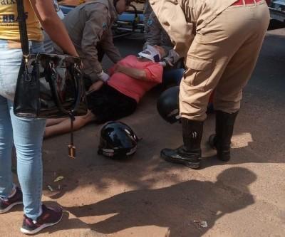 Bombeiros resgatam vítima de acidente no Santos Dumont II