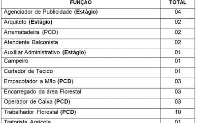 Confira as 34 vagas de emprego disponíveis nesta quarta (21) em Três Lagoas