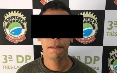 Policiais civis da 3ª DP de Três Lagoas cumprem mandado de prisão de autor de série de furtos