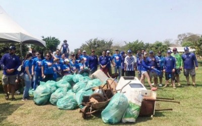Ação internacional retira mais de 300 quilos de lixo dos Rios Paraná e Sucuriú em Três Lagoas