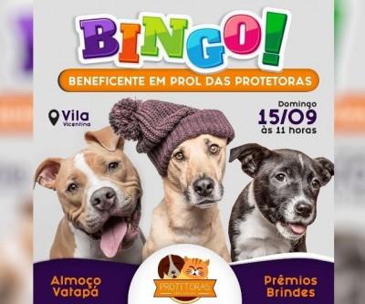 Almoço com bingo beneficente será realizado dia 15 de setembro em prol da Associação Protetoras Três Lagoas