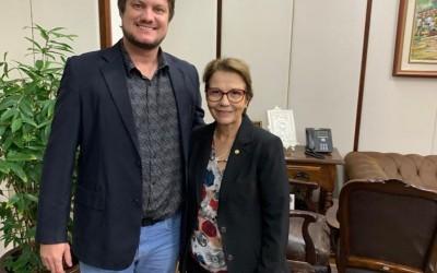 Vereador André Bittencourt é recebido pela Ministra Tereza Cristina em Brasília