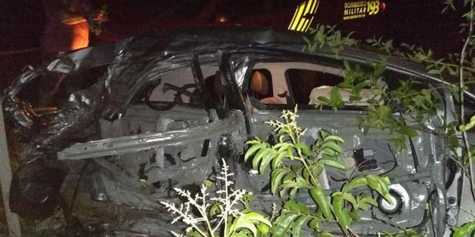 Grave acidente na BR-262 deixa um morto e dois feridos em Água Clara (MS)