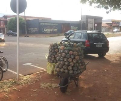 Vendedor de abacaxi ameaça funcionários da prefeitura com faca