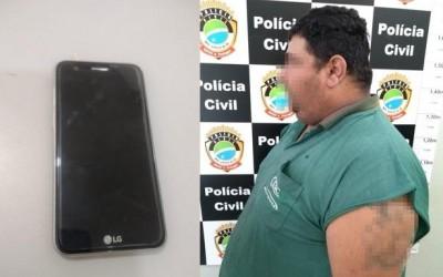Homem detido com celular furtado alegou ter comprado aparelho de catador de recicláveis