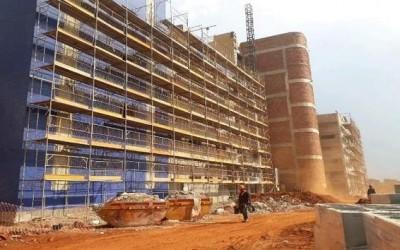 Com 64,35% de obra concluída, Hospital Regional de Três Lagoas já está em fase de acabamento
