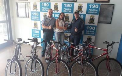 Equipe do PROERD recebe bicicletas do CMDCA para premiação de alunos