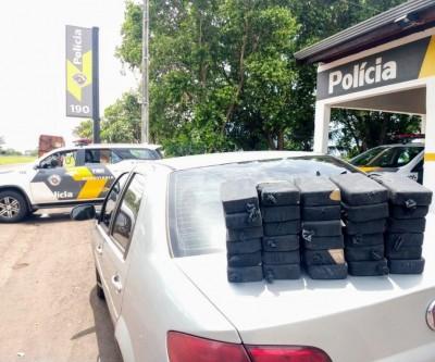 Morador de Dourados é preso em Andradina com 30 tijolos de cocaína