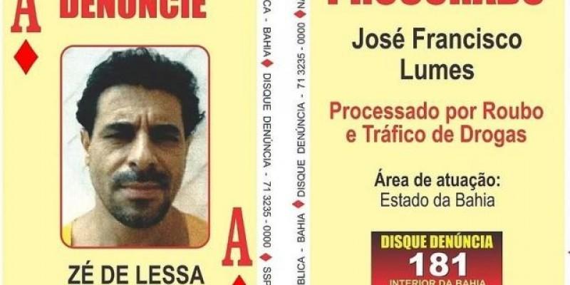 """Bandido morto por policiais de MS integrava """"Baralho do Crime"""" na Bahia"""