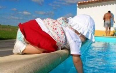 Mãe pula em piscina e salva bebê em Três Lagoas