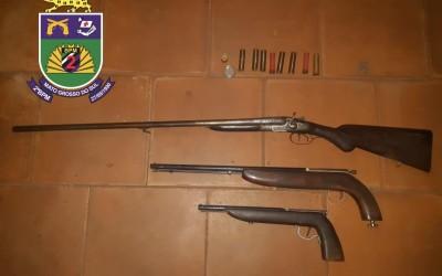 Homem é preso por estar em posse de armas de fogo no Nossa Senhora Aparecida