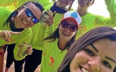 Bruna Viola e o grupo Girls Pesca gravam reality show em Três Lagoas