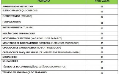 Auxiliar administrativo a técnico de segurança, veja as vagas de trabalho em Três Lagoas