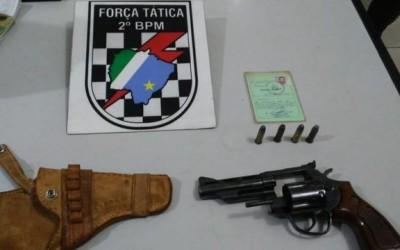 Arma de fogo utilizada para ameaçar mulher na Vila Alegre é apreendida