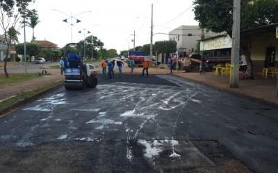 Com retorno das usinas de asfalto, serviço de tapa buracos é retomado em Três Lagoas