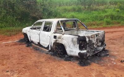 Idoso é espancado durante assalto em Andradina: Bandidos queimaram sua caminhonete