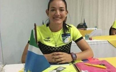 Três-lagoense faz história e se torna a primeira árbitra a apitar na série A do futebol sul-mato-grossense