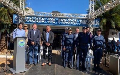 Deputado Eduardo Rocha prestigiou troca de comando da Polícia Militar de Três Lagoas