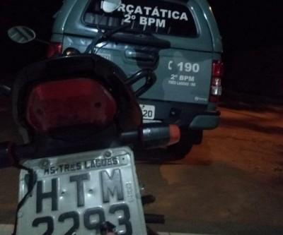 Jovem é preso com moto adulterada e revela que comprou veículo por R$ 1 mil do