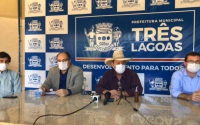 Em coletiva, prefeito confirma reabertura do comércio de Três Lagoas